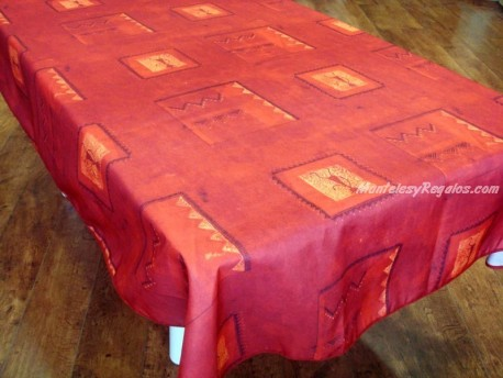 Mantel Antimanchas de Poliéster - Modelo DIDO - Rojo