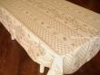 Mantel Antimanchas de Poliéster - Modelo CIGARRAS Y OLIVAS - Beige