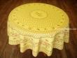 Mantel Antimanchas - Modelo CIGARRAS Y OLIVAS - Amarillo (foto solo del mantel redondo de 1,80 mt.)