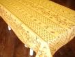 Mantel Antimanchas de Poliéster - Modelo CIGARRAS Y OLIVAS - Amarillo