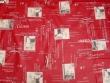 Mantel de Algodón Plastificado - Modelo BISTROT - Rojo