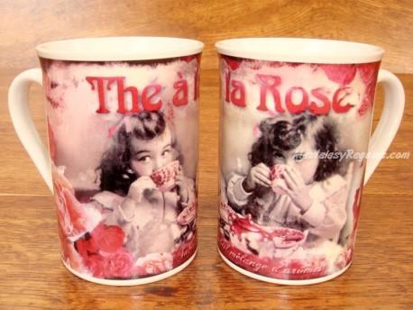 Taza de cerámica decorada - Modelo THÉ À LA ROSE