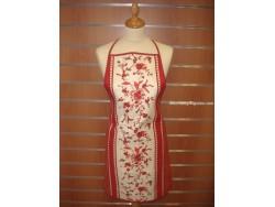 Delantal Antimanchas - Modelo Flores Rojas - Rojo