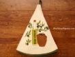 Paño redondo de cocina - Modelo BOTELLA DE ACEITE 2 - Crema