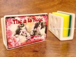 Guarda-esponjas de cerámica - Modelo THÉ À LA ROSE