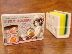 Guarda-esponjas de cerámica - Modelo SUCRE LEGOURMAND