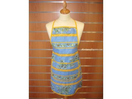 Delantal Algodón - Modelo Clos des Oliviers - Azul