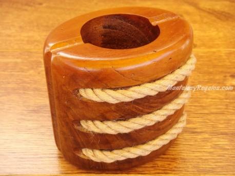 Porta lápices madera - Modelo POLEA - 10 cm.