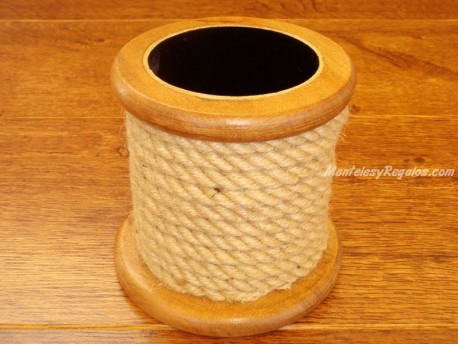 Porta lápices madera - Modelo CUERDA - 11 cm.