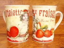 Taza de cerámica decorada - Modelo TARTELETTES AUX FRAISES