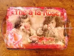 Bandeja decorada - Modelo THÉ À LA ROSE - 48 cm.
