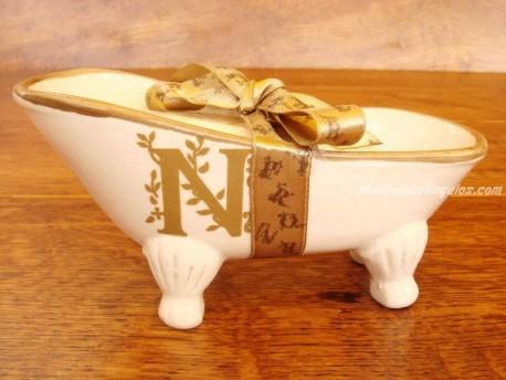 Jabonera de cerámica letra N