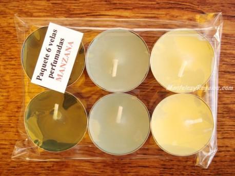 Velas de Té perfumadas de MANZANA