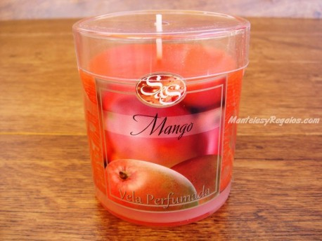 Vela perfumada en vaso de cristal de MANGO