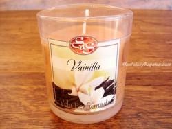 Vela perfumada en vaso de cristal de VAINILLA