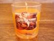 Vela perfumada en vaso de cristal de CANELA-NARANJA