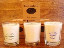 Velas perfumadas en vaso de cristal - 9 cm. (3 perfumes para elegir)