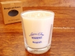 Vela perfumada en vaso de cristal - 9 cm. (Marino)