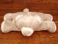 Peluche osito gris/blanco - 36 cm. (estirado)