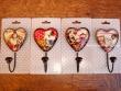 Colgadores en forma de corazón (4 modelos diferentes para elegir)