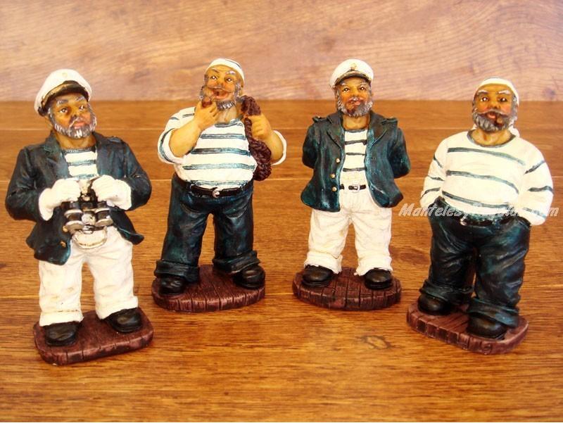Conjunto de 4 figuras marineras for Articulos decoracion nautica