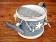 Regadera metálica Azul - 15 cm.