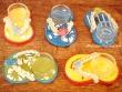 Sandalias portavelas - 11 cm. (5 colores diferentes)