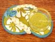 Sandalia portavelas - 11 cm. (fondo verde y blanco)