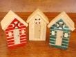 Casetas de Playa de madera - 12 cm. (3 colores para elegir)