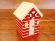 Caseta de Playa de madera - 12 cm. (color rojo)