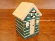 Caseta de Playa de madera - 12 cm. (color azul)