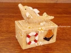 Caja joyero - Modelo DELFIN 01 - 8 cm.