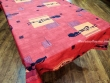 Manteles Antimanchas Poliéster - Modelo ÁFRICA 02 - Rojo