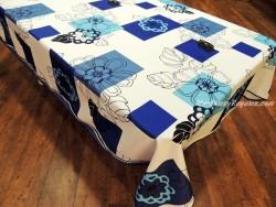 Mantel Antimanchas Poliéster - Modelo FLEUR GRAPHIQUE - Azul