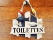 Cartel náutico Toilettes para puertas - 18 cm.