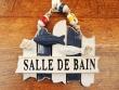 Cartel náutico Salle de Bain para puertas - 18 cm.