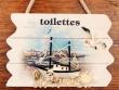 Placa marineras para puertas - 14 cm. (Modelo Toilettes)