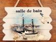 Placa marineras para puertas - 14 cm. (Modelo Salle de Bain)