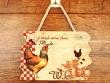Placa gallinas para puertas - 14 cm. (WC)