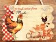 Placa gallinas para puertas - 14 cm. (Chambre)