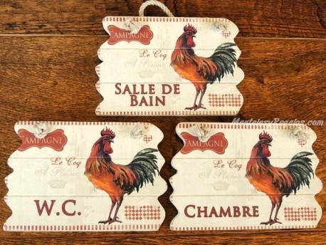 Placas gallos para puertas - 14 cm. (3 placas a elegir)