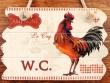 Placas gallos para puertas - 14 cm. (modelo W.C.)