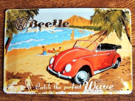 Placa metálica VOLKSWAGEN BEETLE - 20 x 30 cm. fabricada por Nostalgic Art