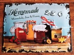 Placa metálica HOMEMADE MARMALADE - 30 x 40 cm. de Nostalgic Art