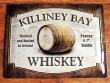 Placa metálica KILLINEY BAY WHISKEY - 30 x 40 cm. (Nostalgic-Art)