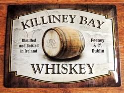 Placa metálica KILLINEY BAY WHISKEY - 30 x 40 cm. (Nostalgic-Art)