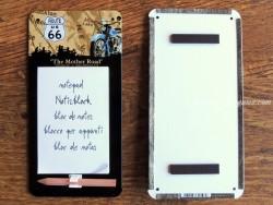 Imán Bloc de notas MAPA ROUTE 66 - Nostalgic-Art