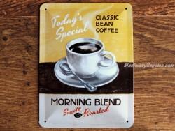 Placa metálica MORNING BLEND COFFEE - 15 x 20 cm. (Nostalgic-Art)