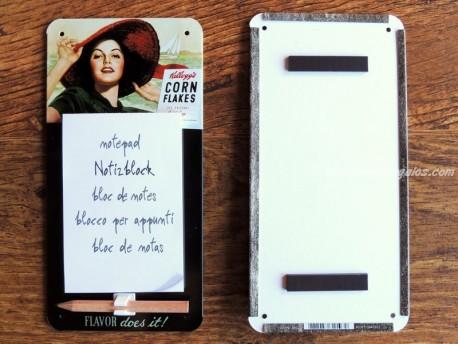 Imán Bloc de notas KELLOGG´S CORN FLAKES (Nostalgic Art)