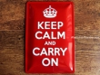 Placa metálica KEEP CALM AND CARRY ON - 20 x 30 cm. de Nostalgic-Art